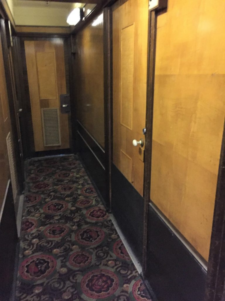 Staterooms, main deck, Queen Mary. Long Beach, CA, June 2017 (Photo: Sarah Sundin)