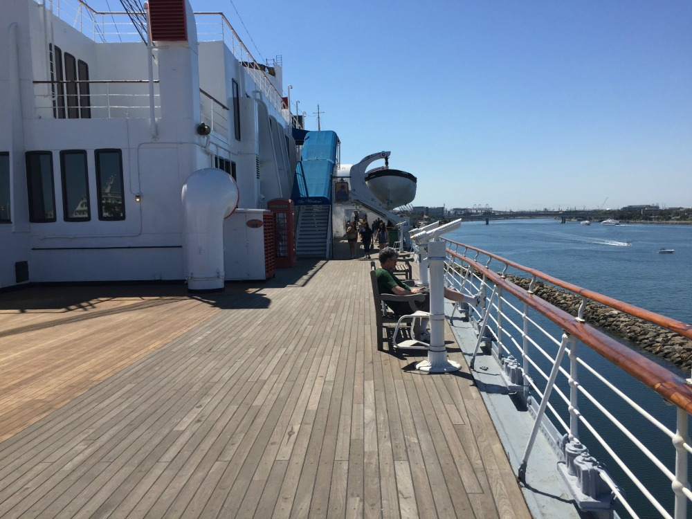 Sun deck of the Queen Mary. Long Beach, CA, June 2017 (Photo: Sarah Sundin)