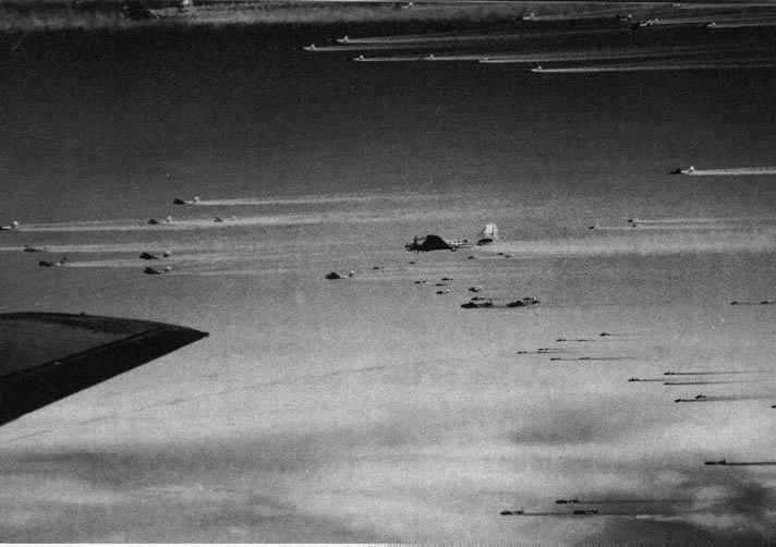 B-17s of the US 3rd Bombardment Division over Europe, WWII (USAF photo)