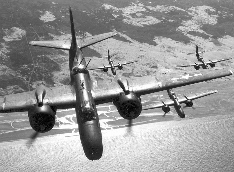 Douglas A-20 Havocs over France, WWII (USAF photo)