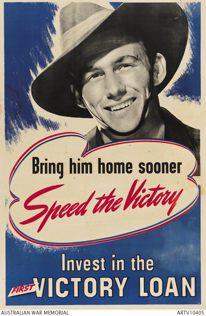 Poster for Australia's First Victory Loan, March 28-May 9, 1944 (Australian War Memorial)