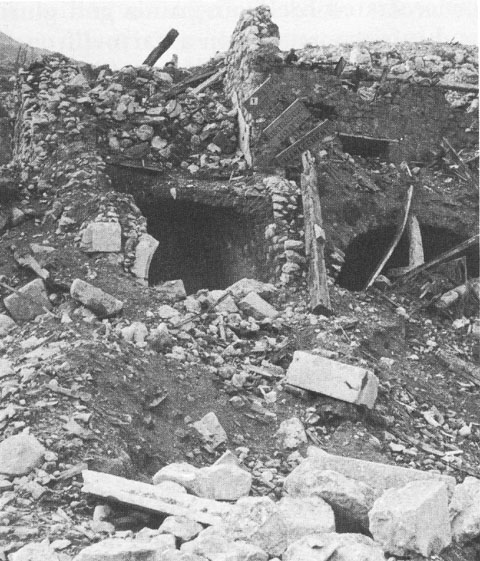 Ruins of Continental Hotel in Cassino, Italy, 1944 (US Army Center of Military History)