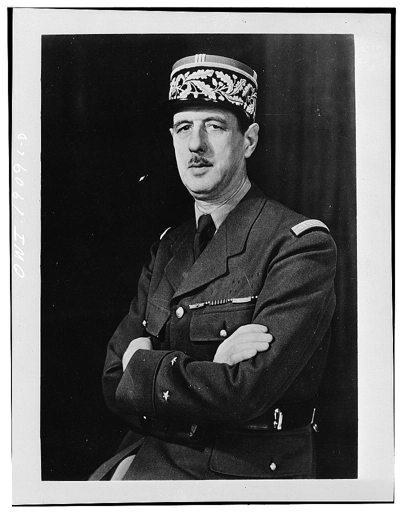 Gen. Charles de Gaulle, 1942 (US Library of Congress)