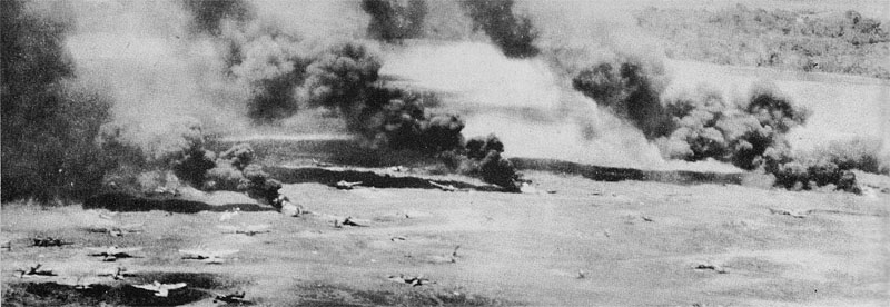US Fifth Air Force bombing of Hollandia, New Guinea, April 1944 (USAF Photo)