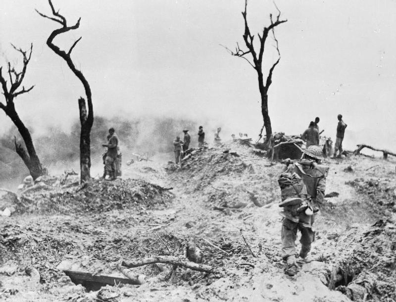 Scraggy Hill at Imphal, India, April 1944 (Imperial War Museum)