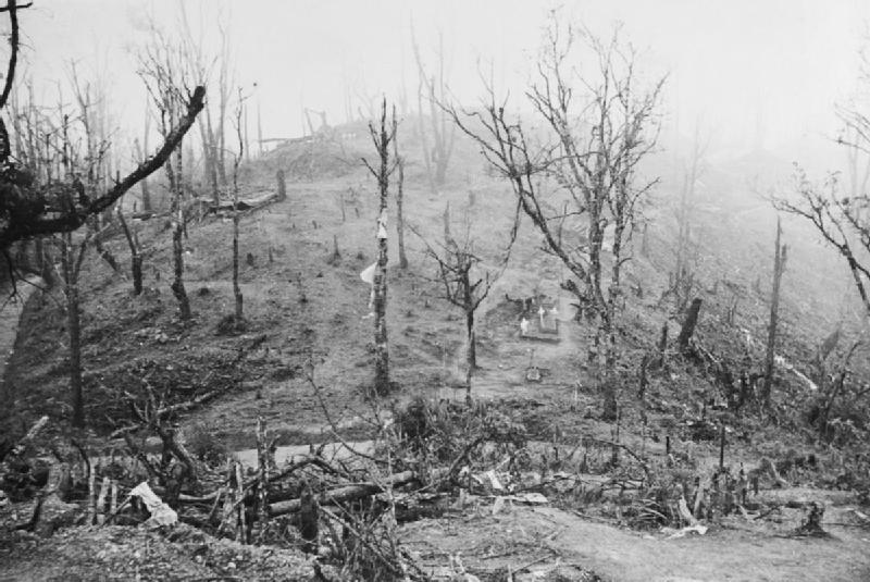 Garrison Hill at Kohima, India (Imperial War Museum)