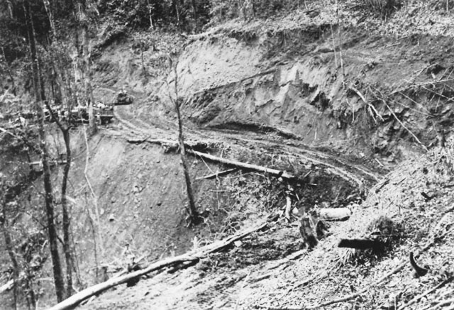 Allied construction of the Ledo Road in Burma (US Army Center of Military History)