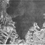 Stella Romana oil refinery at Ploesti, Romania after US 15th Air Force bombing, 1944 (USAF photo)