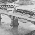 Damage to Ponte di Piave bridge in Italy after Mediterranean Allied Air Force raid, WWII (USAF photo)
