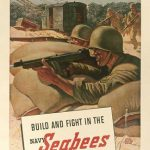 Poster for US Navy Construction Battalions (Seabees), WWII