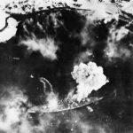 Fleet Air Arm attack on the German battleship Tirpitz at Alta Fjord, Norway, 3 April 1944 (Imperial War Museum: A 22633)