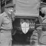 Gen. Bernard Montgomery and King George VI at Montgomery's headquarters in Britain, 22 May 1944 (Imperial War Museum)