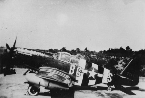 "P-51B Mustang ""Old Crow"" of the US 357th Fighter Group in invasion stripes for D-day (Imperial War Museum, Roger Freeman Collection)"