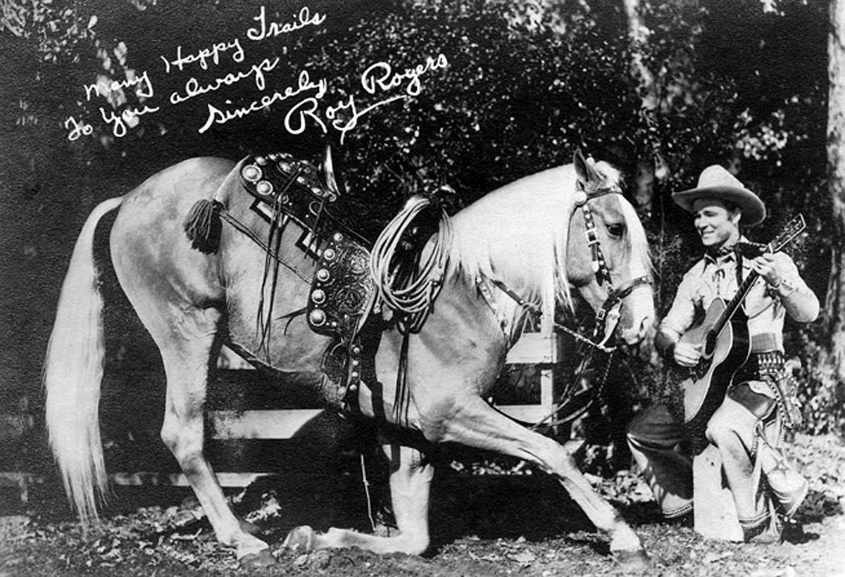 Publicity photo of Roy Rogers and Trigger (public domain via Wikipedia)