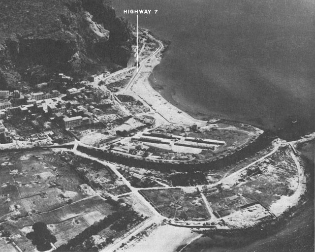 Aerial view of Terracina, Italy, May 1944 (US Army Center of Military History)
