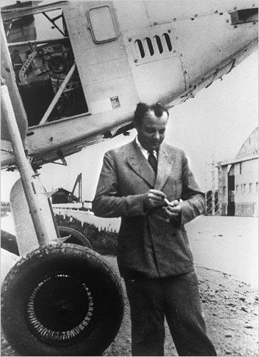 French writer and aviator Antoine de Saint-Exupéry, Toulouse, France, 1933 (public domain via Agence France-Presse)