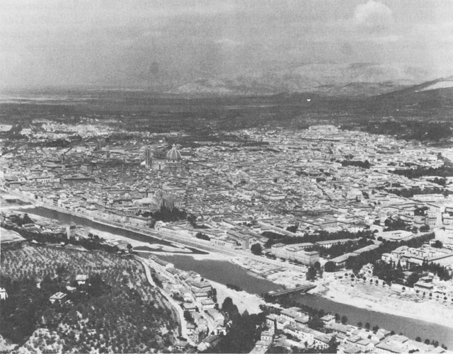 Aerial view of Florence, Italy, 1944 (US Army Center of Military History)