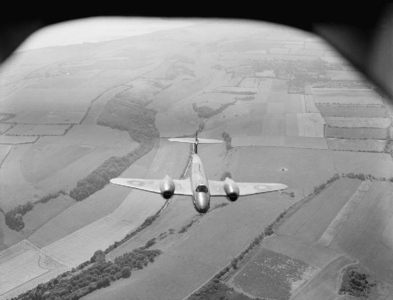 Gloster Meteor over England (Imperial War Museum)