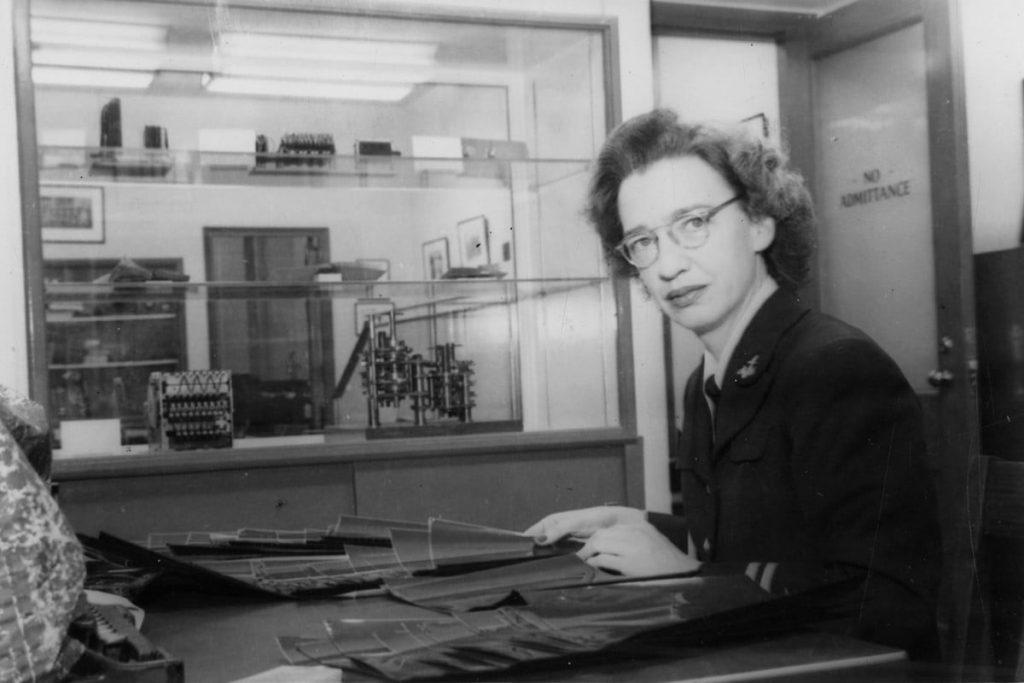 Lt. Grace Hopper at Harvard, 1940s (public domain via WW2 Database)