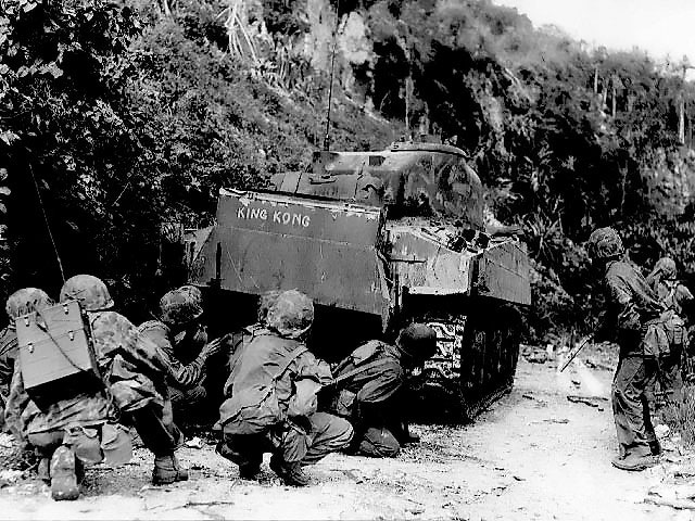 US Marines in northern Saipan, 8 Jul 1944 (US Marine Corps)