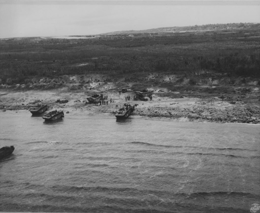 US Marines landing on Tinian, 24 July 1944 (US Marine Corps)