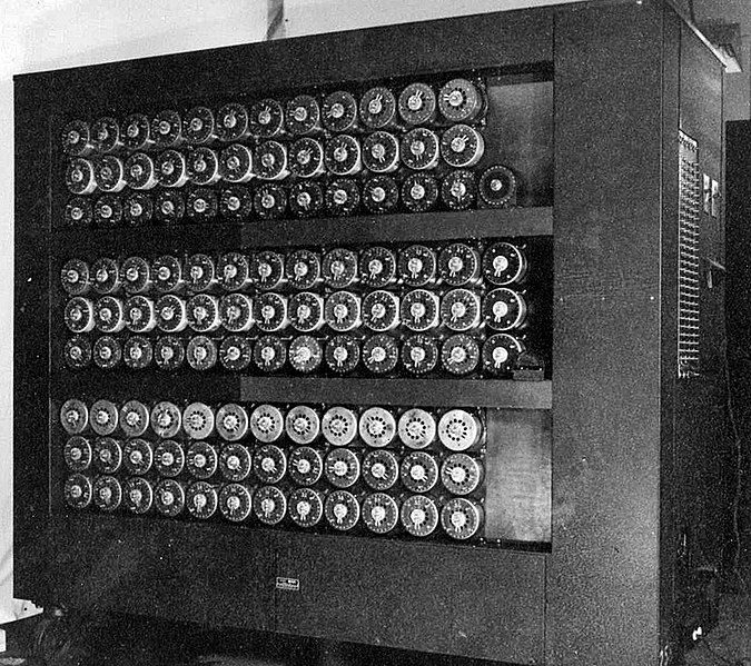 Bombe at Bletchley Park, England, 1945 (United Kingdom government photo)