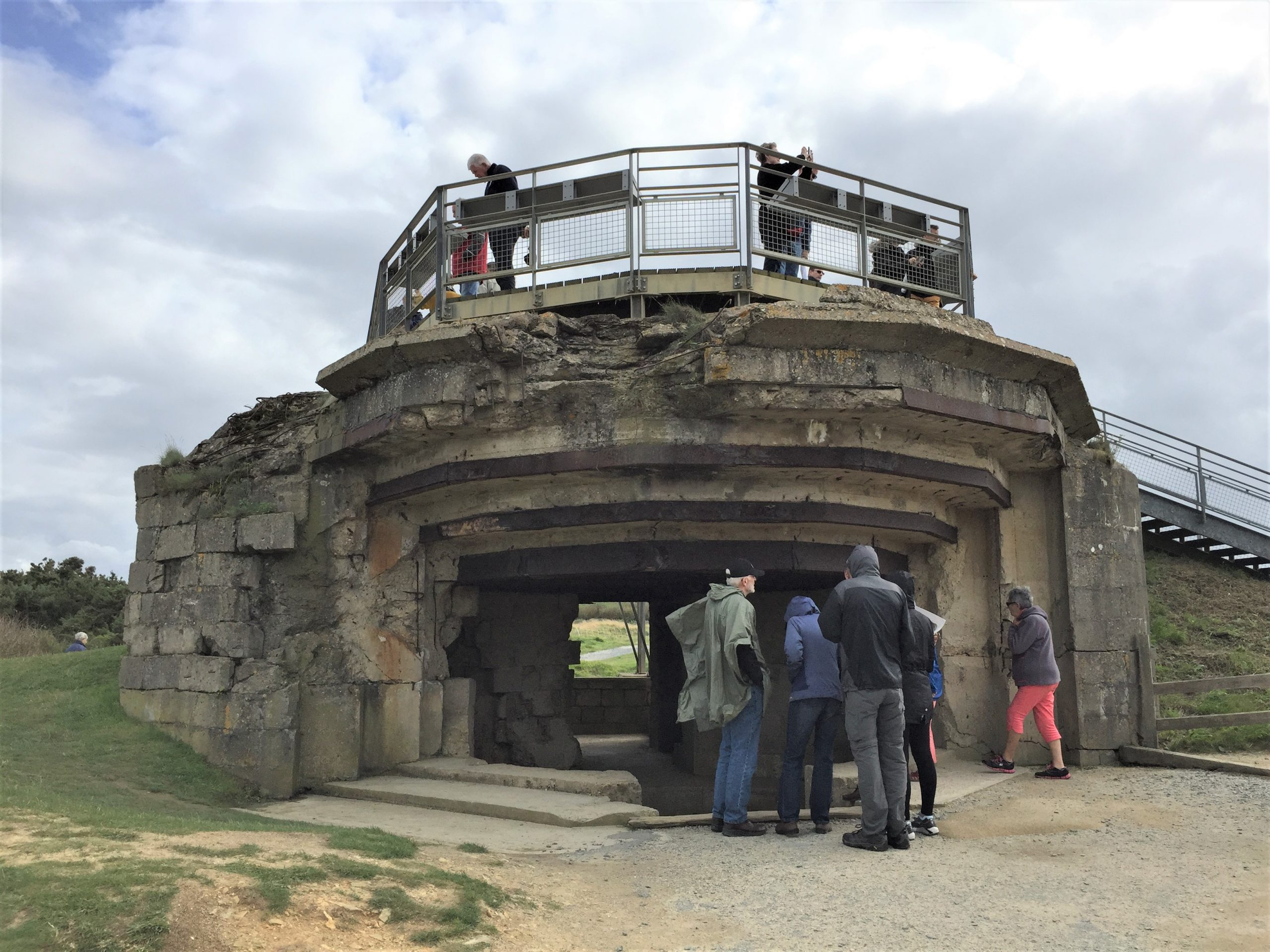 Gun casemate at Pointe du Hoc (Photo: Sarah Sundin, September 2017)