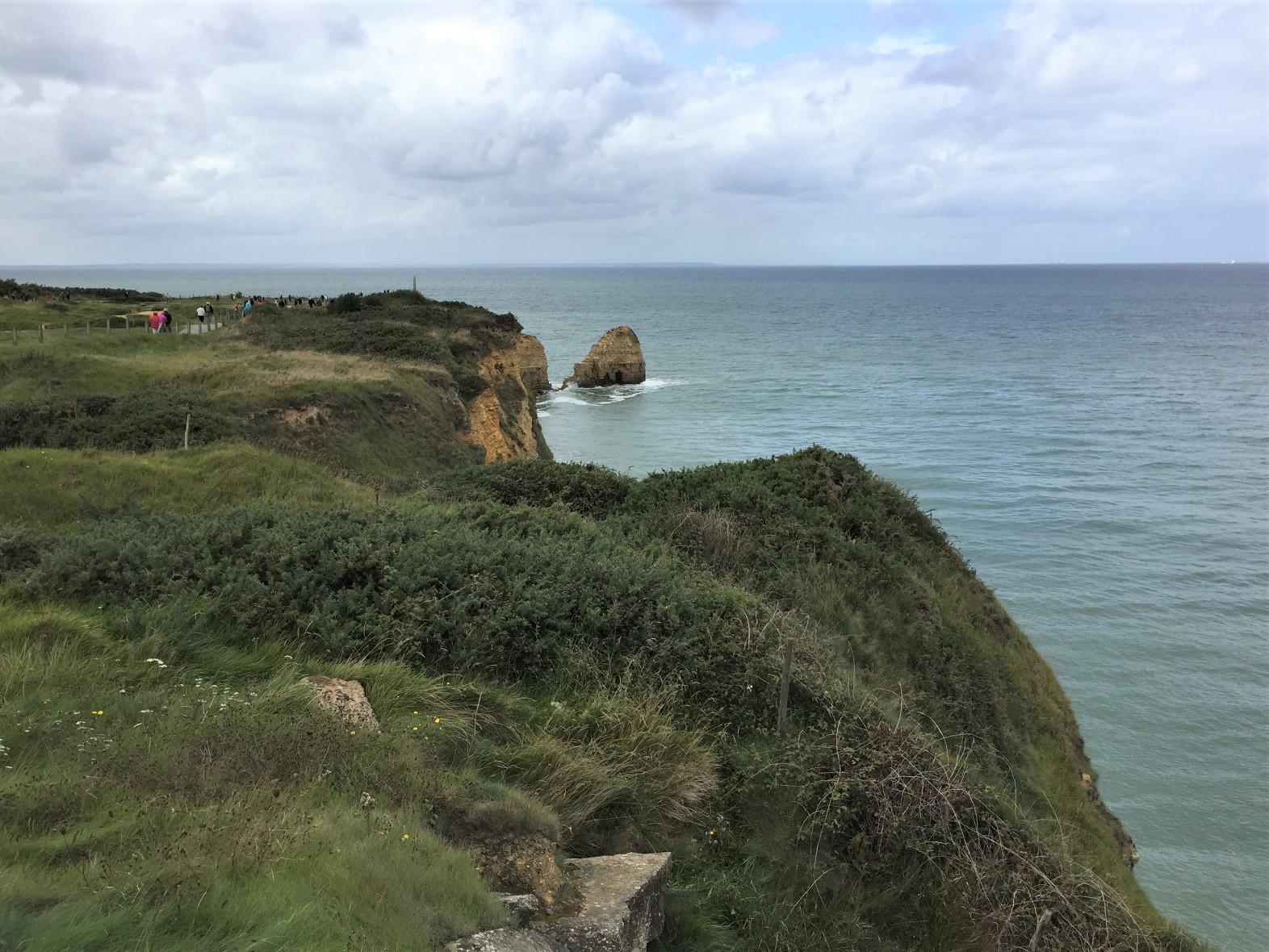 Cliffs of Pointe du Hoc (Photo: Sarah Sundin, September 2017)