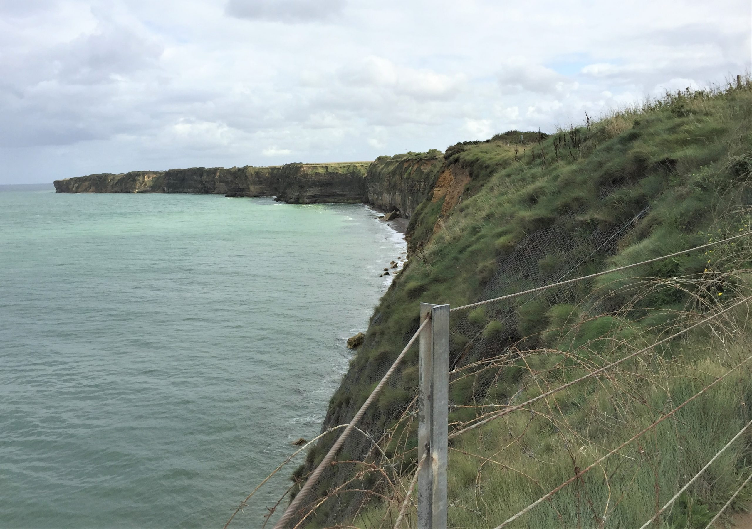 Cliffs of Pointe du Hoc (Photo: Sarah Sundin, September 2017)