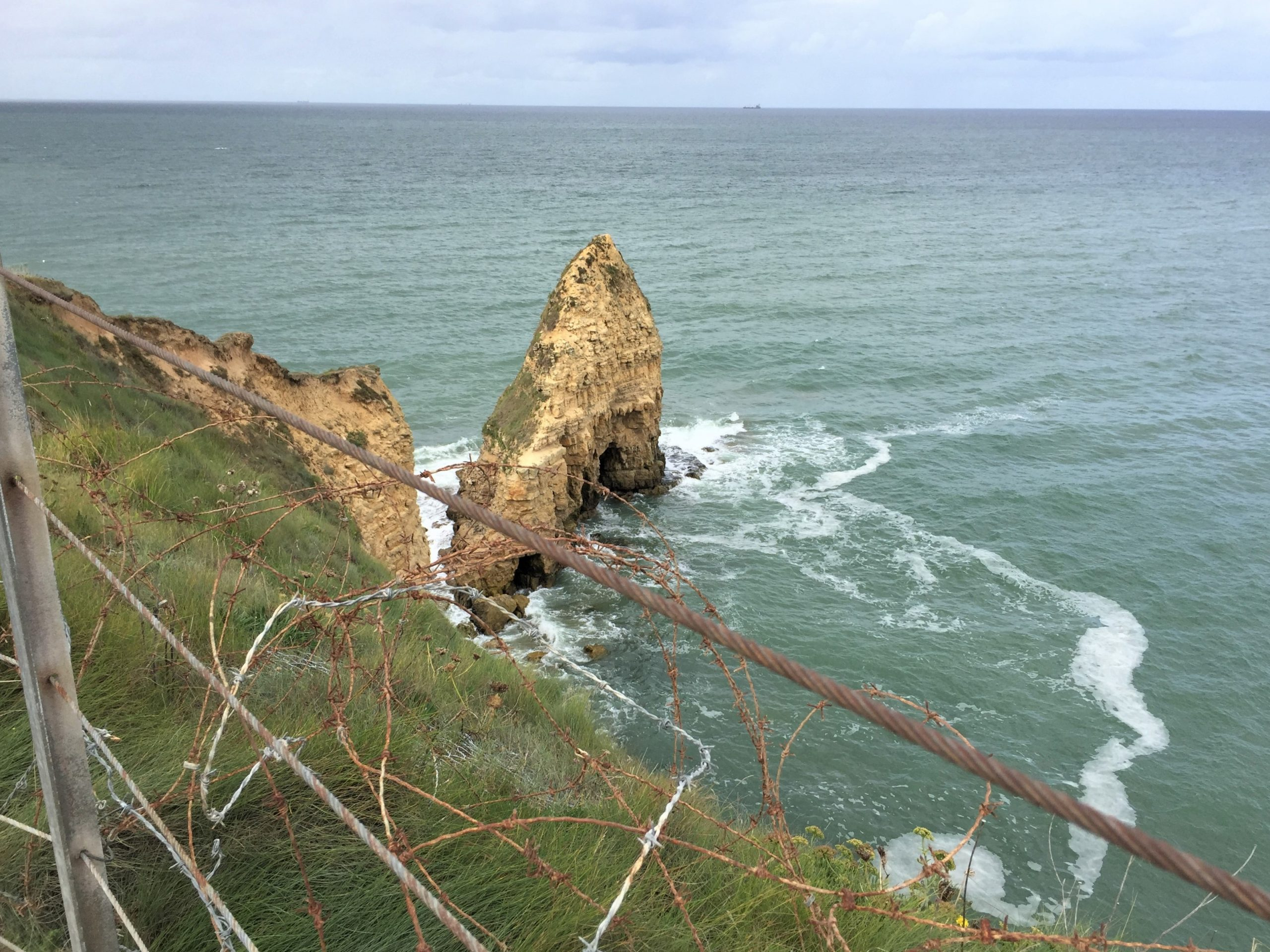 Tip of Pointe du Hoc (Photo: Sarah Sundin, September 2017)