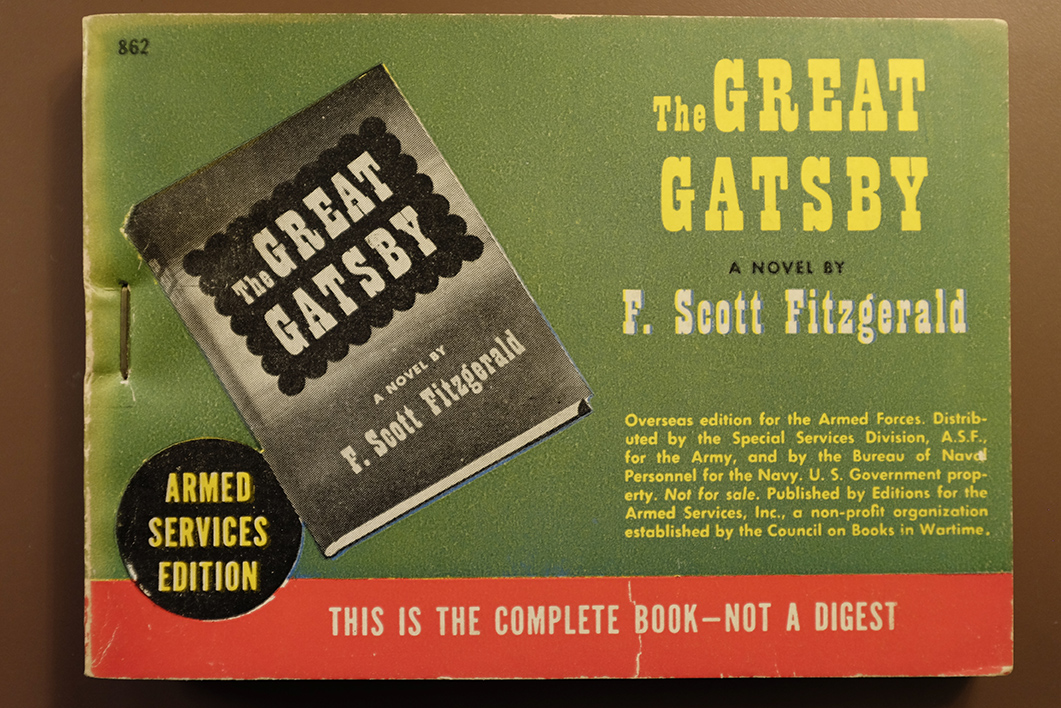 Armed Services Edition of The Great Gatsby by F. Scott Fitzgerald, in Library of Congress Rare Books and Special Collections Division (Library of Congress, photo by Shawn Miller)