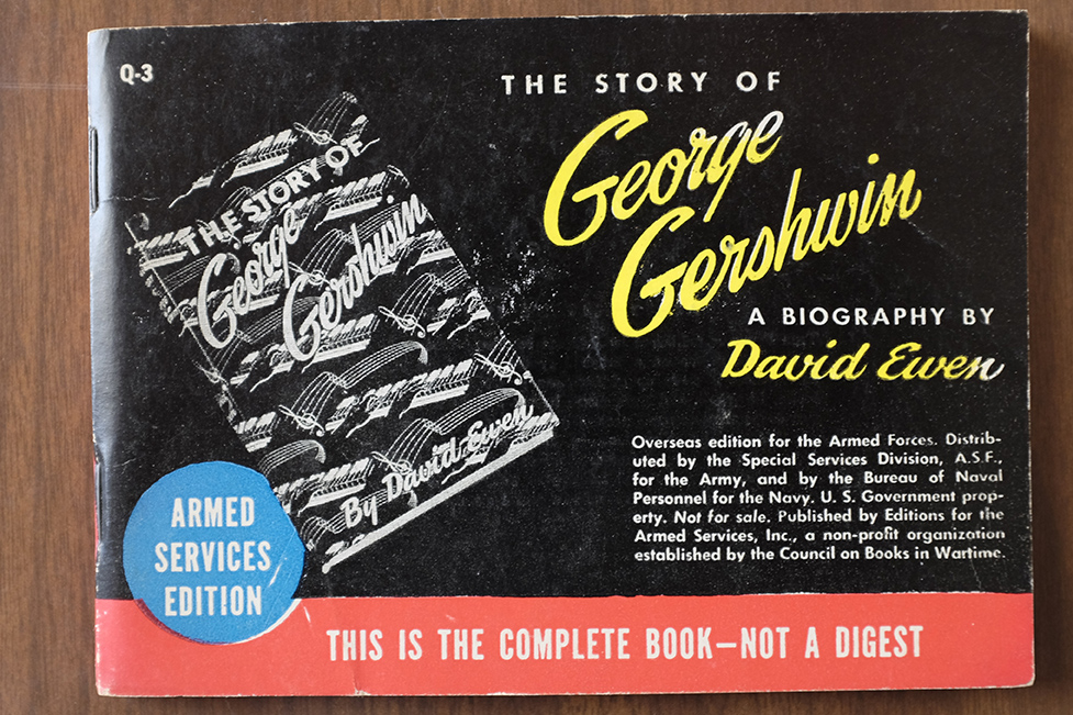 Armed Services Edition of The Story of George Gershwin by David Ewen, in Library of Congress Rare Books and Special Collections Division (Library of Congress, photo by Shawn Miller)