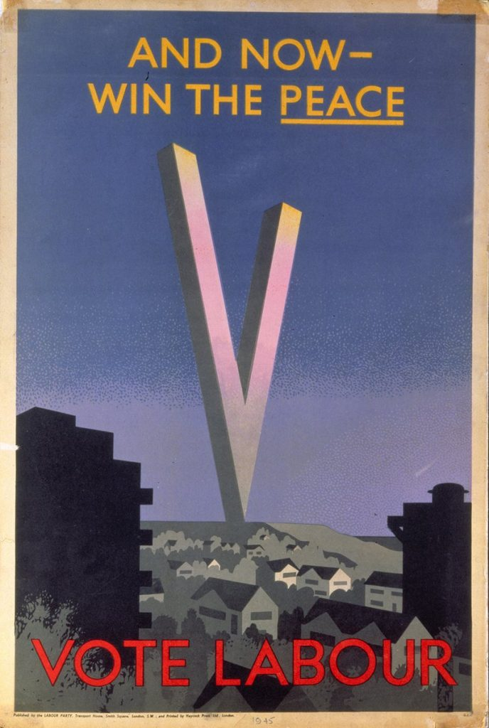 Labour Party election poster, 1945