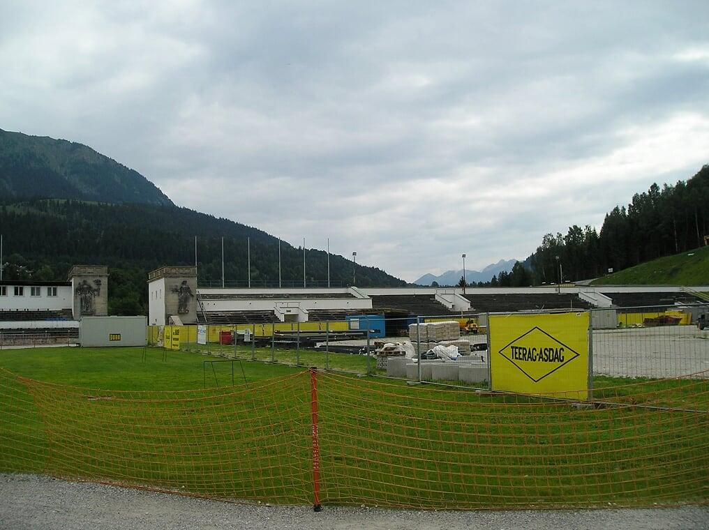 Inside the Olympic Ski Stadium in Garmisch-Partenkirchen (Photo courtesy of Stephen Sundin, July 2007)