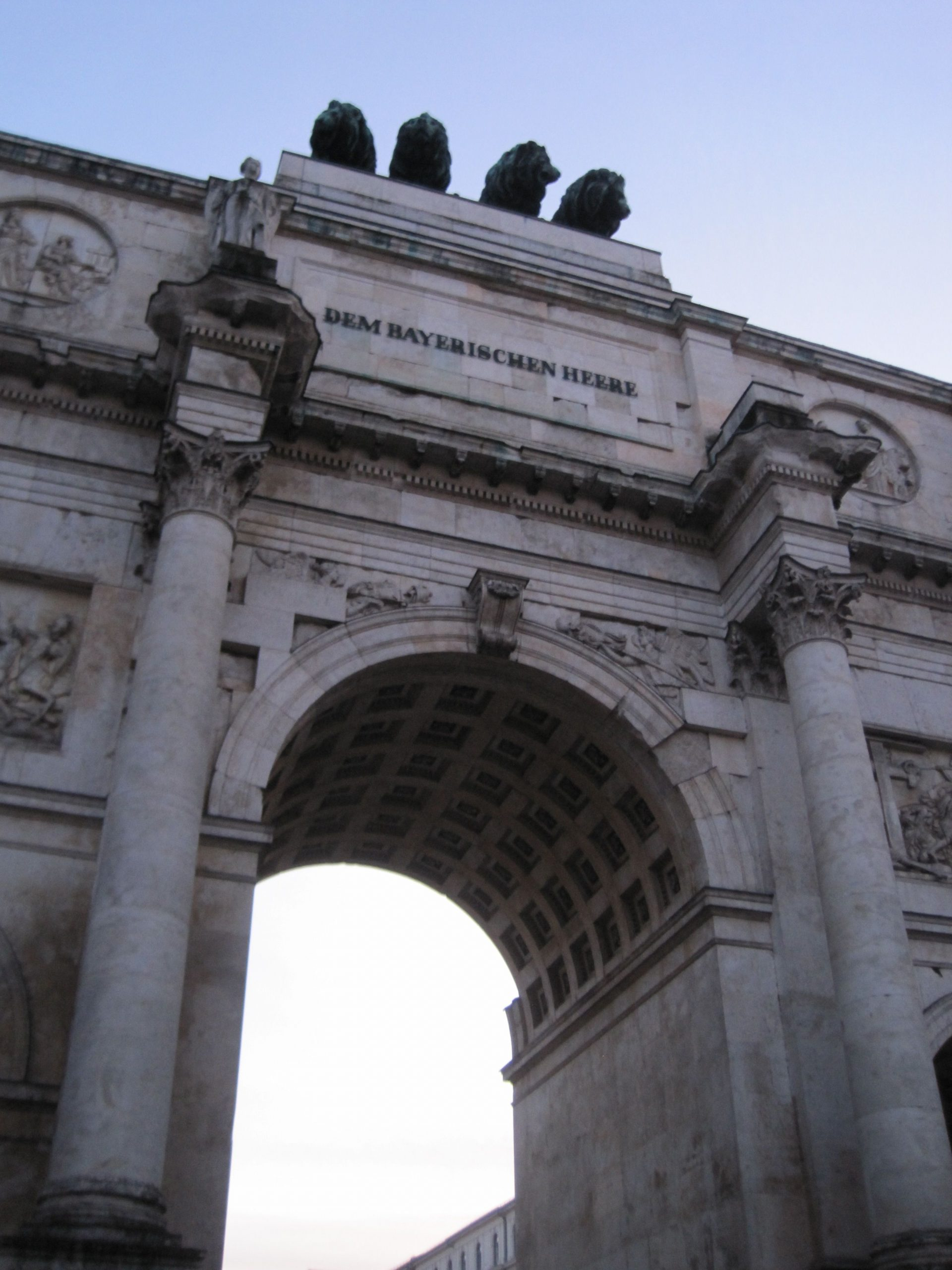 Siegestor, Munich, Germany, showing inscription on front (Photo courtesy of Morgan Tarpley Smith)