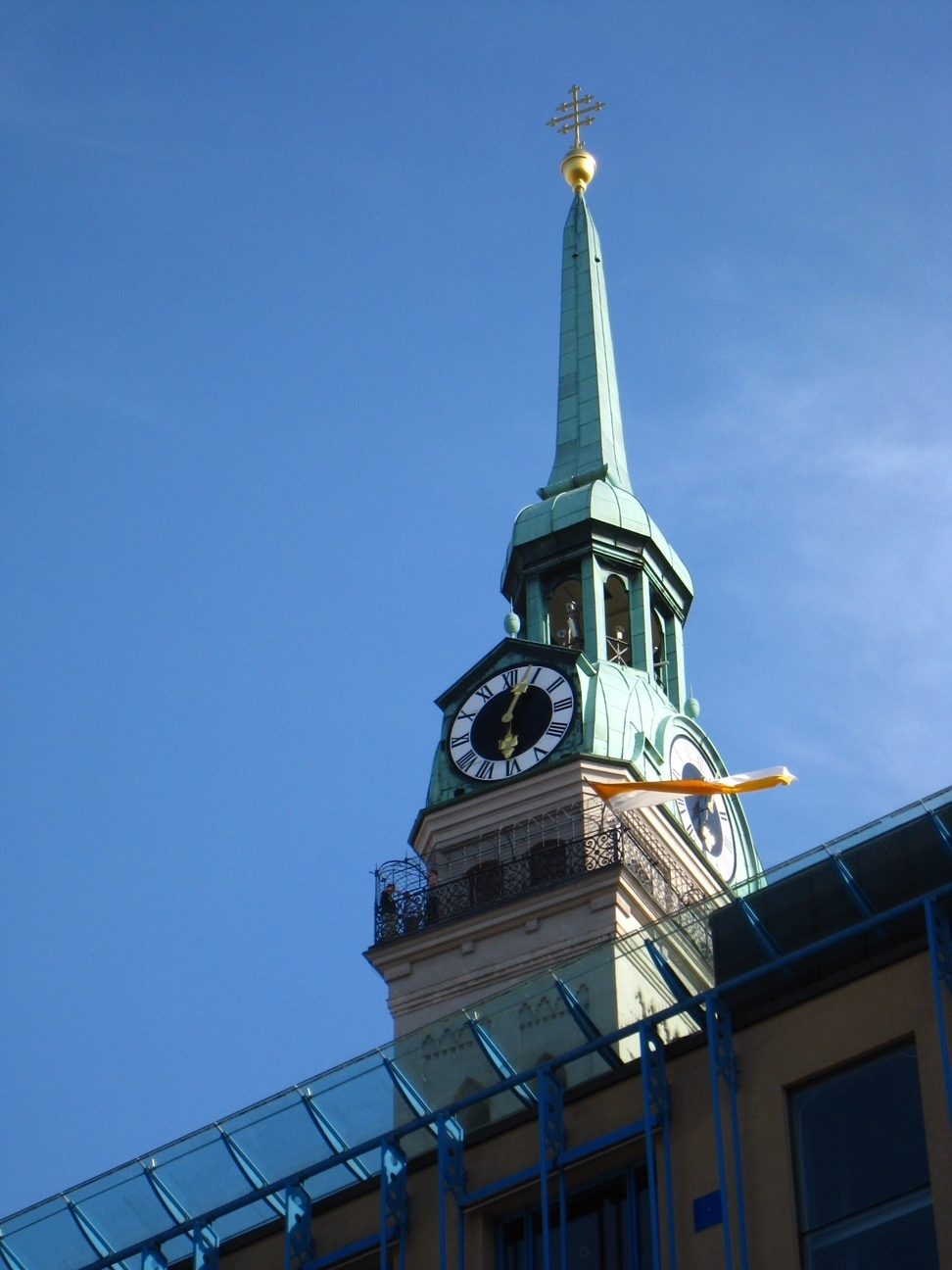 The tower of St. Peterskirche (Photo courtesy of Pauline Trummel)