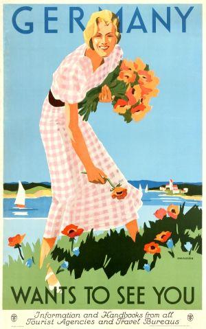 German tourism poster, 1935