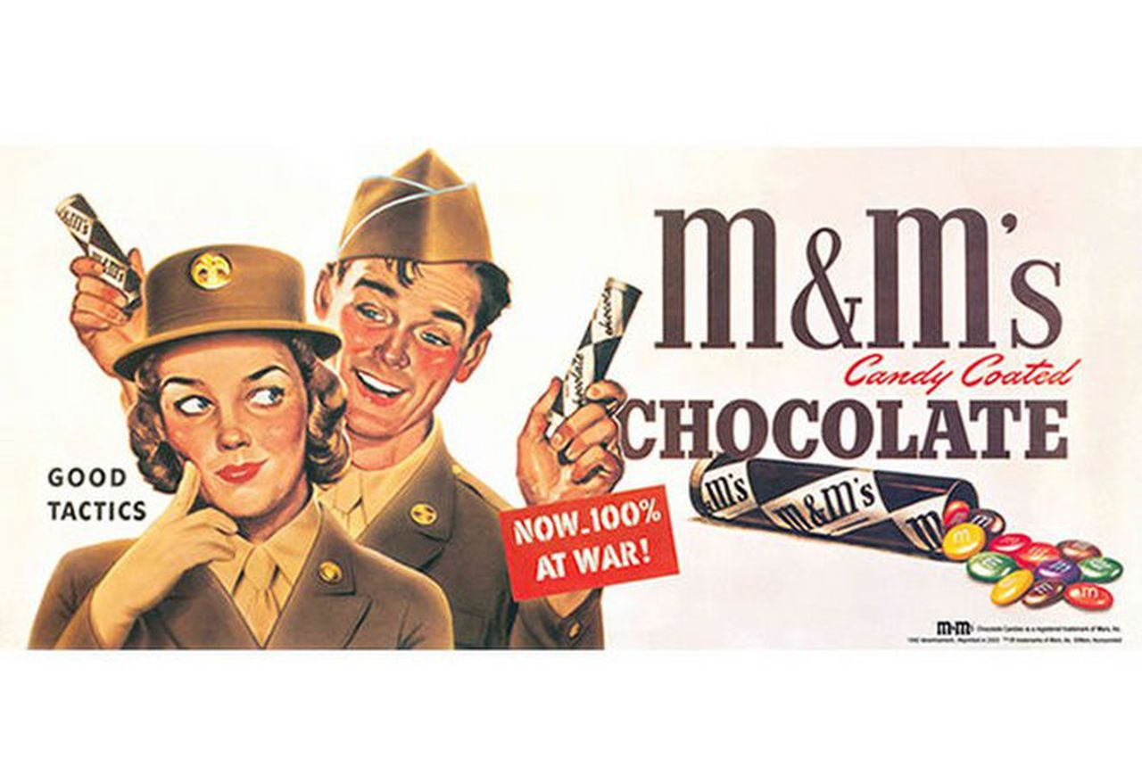 Mars ad for M&M's, WWII