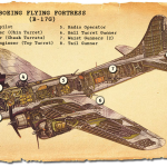 Cutaway diagram of a B-17G Flying Fortress (Sarah Sundin)