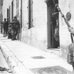 French troops near the Notre-Dame de la Garde basilica, Marseille, France, August 1944 (US Army Center of Military History)
