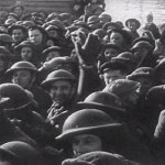 British troops in a ship evacuating from Dunkirk, France, late May 1940 (US Government photo)