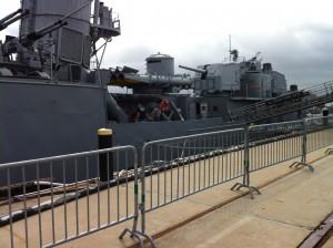 Quarterdeck, torpedo tubes, aft guns, USS Cassin Young, Charlestown Navy Yard, Boston, July 2014 (Photo: Sarah Sundin)
