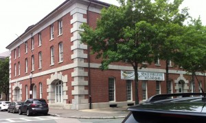 Building 39, formerly part of the Charlestown Navy Yard in Boston. (Photo: Sarah Sundin, July 2014)