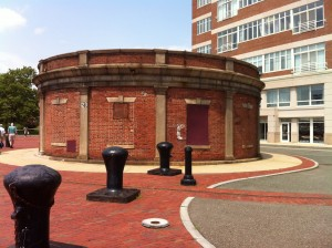 Pumphouse for Dry Dock 2, Charlestown Navy Yard, Boston (Photo: Sarah Sundin, July 2014)