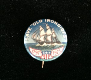 Button from the 1925 drive to raise funds to restore the USS Constitution (Photo: Sarah Sundin)