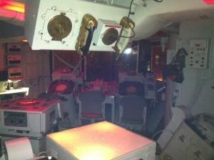 Combat Information Center, USS Joseph P. Kennedy, Jr., Battleship Cove, Fall River, MA, July 2014 (Photo: Sarah Sundin)