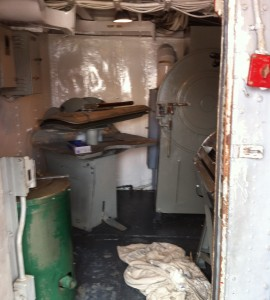Laundry, USS Cassin Young, Charlestown Navy Yard, Boston, July 2014 (Photo: Sarah Sundin)
