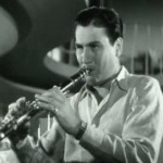 "Artie Shaw playing ""Concerto for Clarinet"" in ""Second Chorus,"" 1940 (public domain via Wikipedia)"