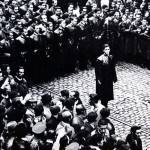 Leader Corneliu Zelea Codreanu and the Iron Guard in Bucharest, Romania, 1937 (public domain via Wikipedia)