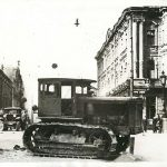 Odessa soon after capture by Germans; abandoned Soviet vehicles and barricades, October 1941 (public domain via Wikipedia)